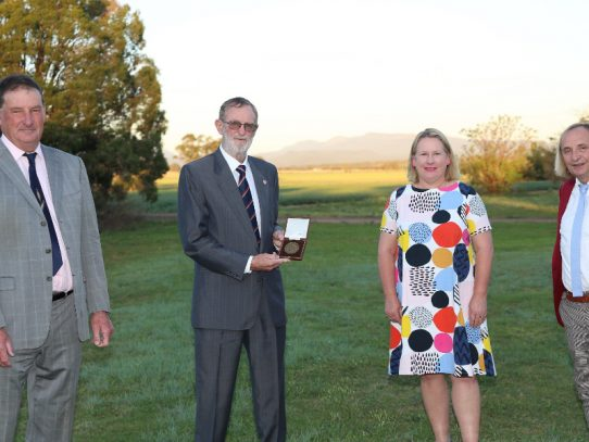 Prominent wheat breeder presented Farrer Memorial Medal